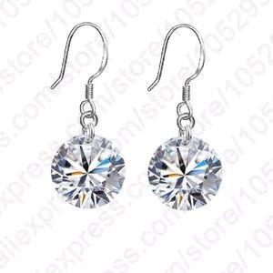 💎925 sterling sliver crystal ear rings